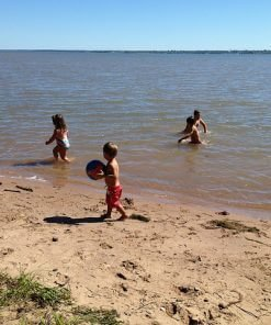 Kids Playing at the Beach at Mission Springs Resort in Ashland