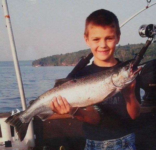 summer fishing on chequamegon bay