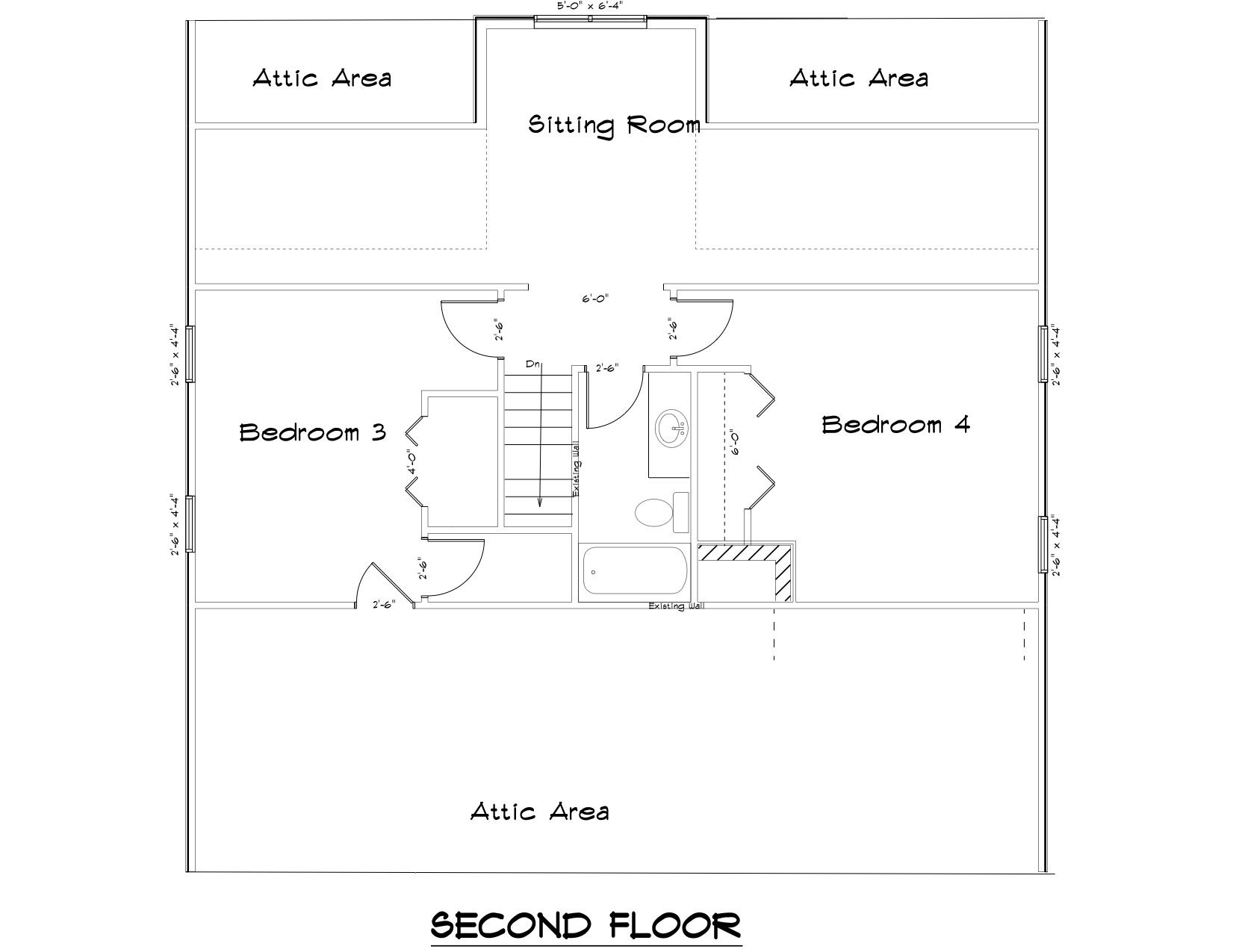 Lake House second floor plan