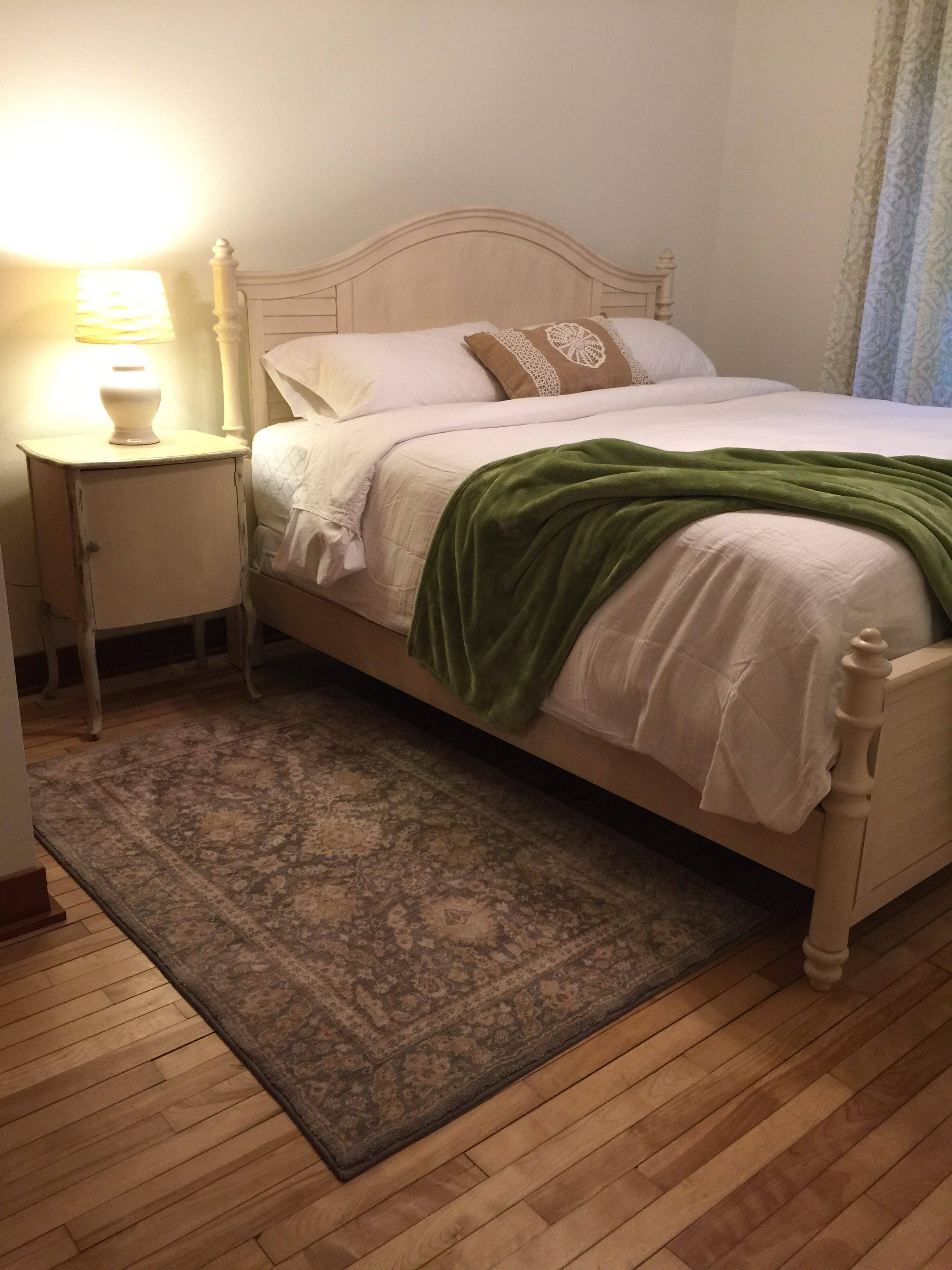 lake house bedroom. King bed