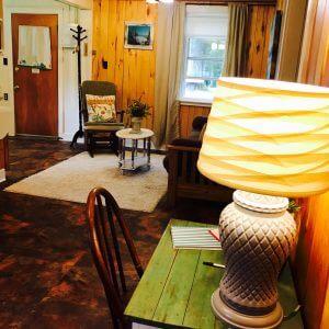 Cottage 9 Living room desk view