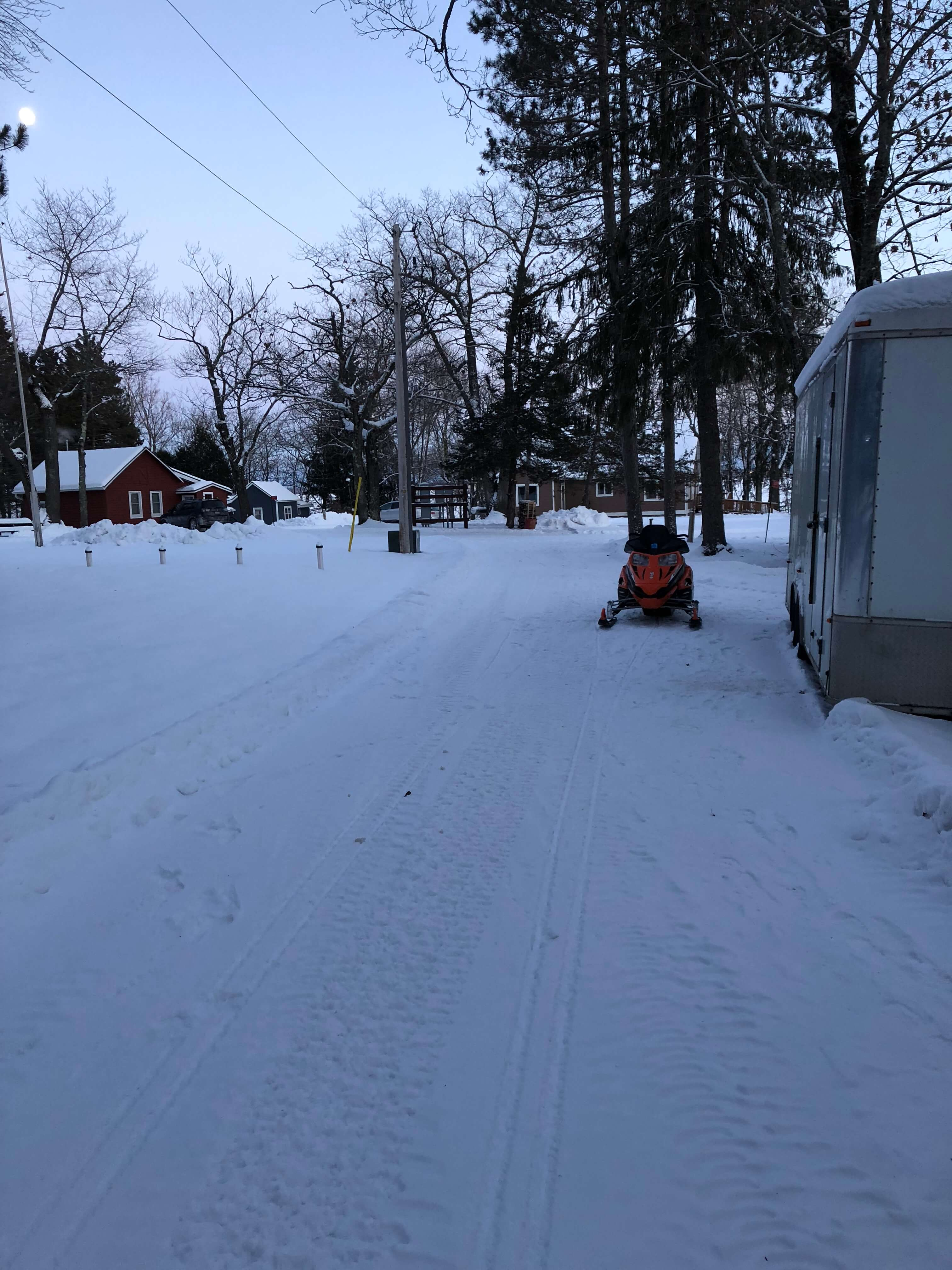 snowmobile and snow at mission springs resort