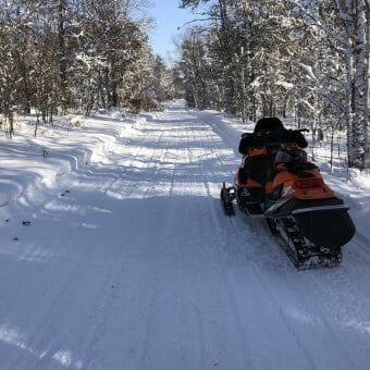 Snowmobile trails in Bayfield County