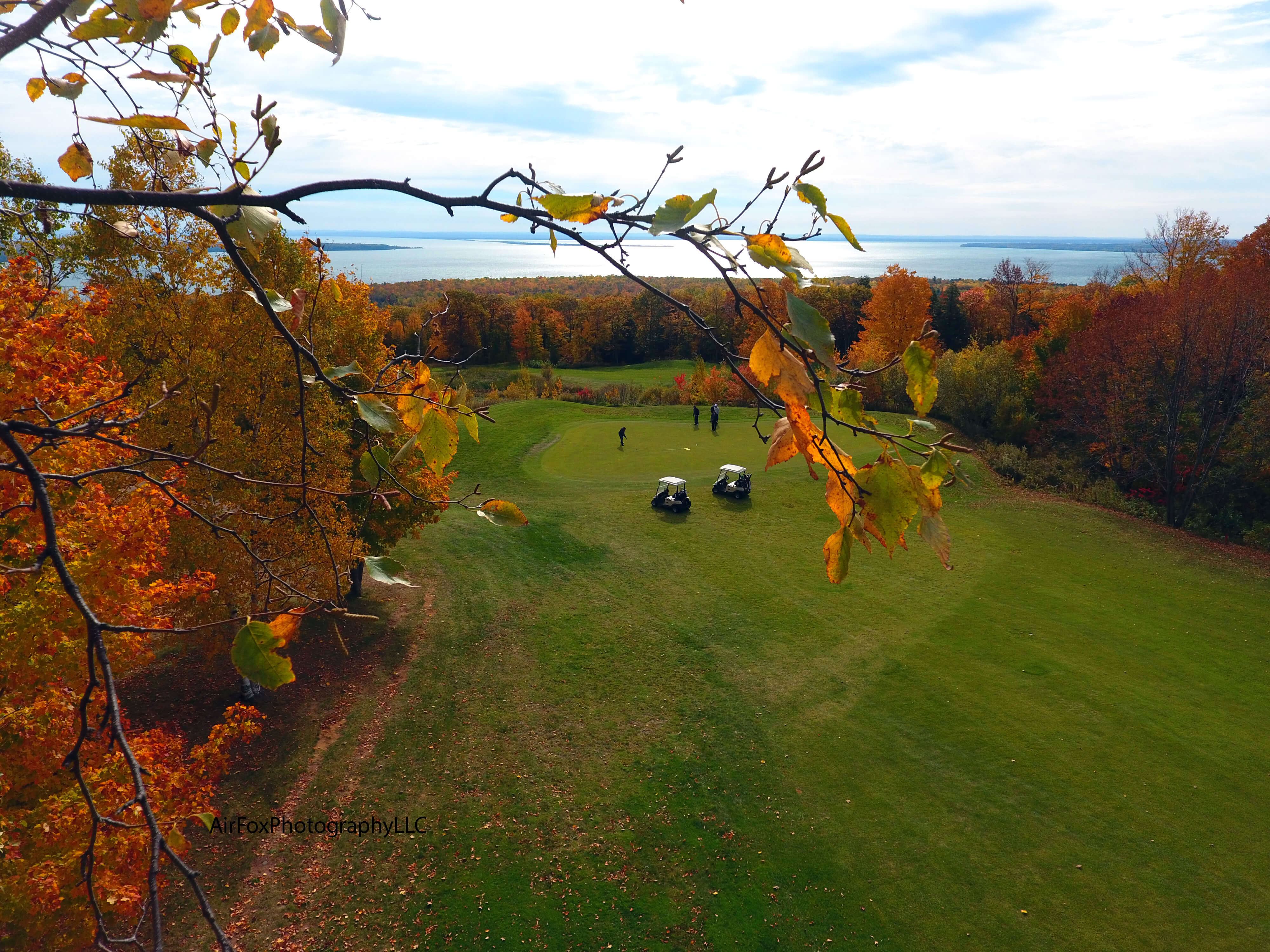 Golf Course with Lake Superior in Background