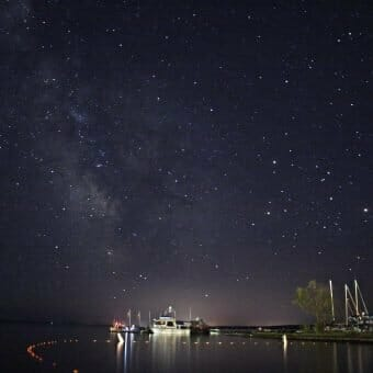 Bayfield Wisconsin at Night