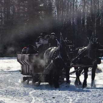 sleigh and cutter rally in Ashland Wisconsin